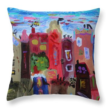 The Stars Are Out Early Tonight Throw Pillow by Mary Carol Williams