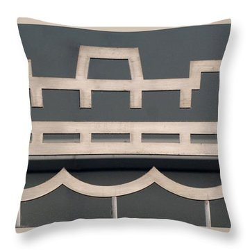 The Staten Island Ferry Throw Pillow by Rob Hans