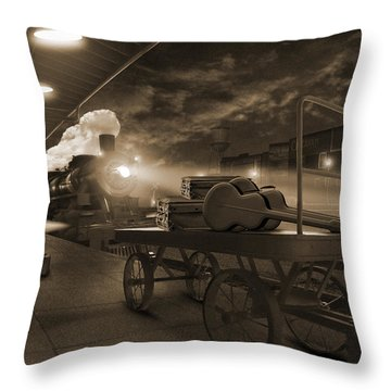 The Station 2 Throw Pillow by Mike McGlothlen