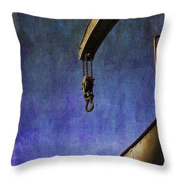 The Steam Crane Throw Pillow by Brian Roscorla