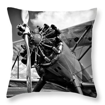 The Stearman Biplane Throw Pillow