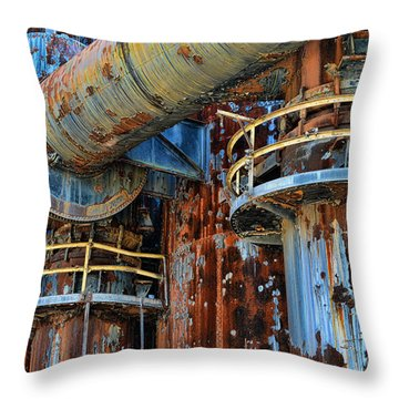 The Steel Mill Throw Pillow