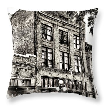 The Stein Building Throw Pillow by Marvin Spates