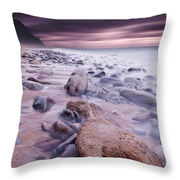 The Stone Land Throw Pillow