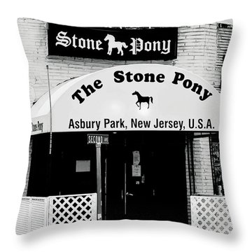 The Stone Pony Asbury Park Nj Throw Pillow
