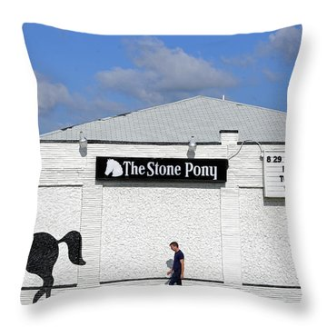 The Stone Pony Throw Pillow