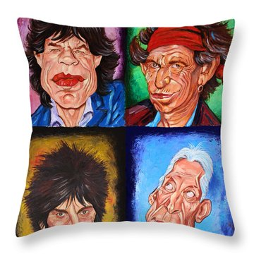 The Rolling Stones Throw Pillow