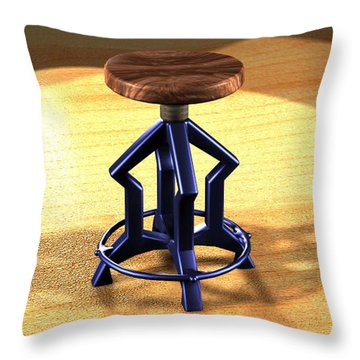 The Stool Twin Throw Pillow by Giuseppe Epifani