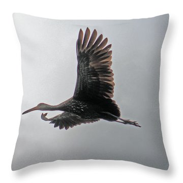 The Stork Throw Pillow