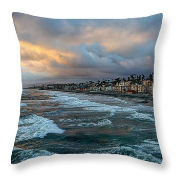 The Storm Clouds Roll In Throw Pillow
