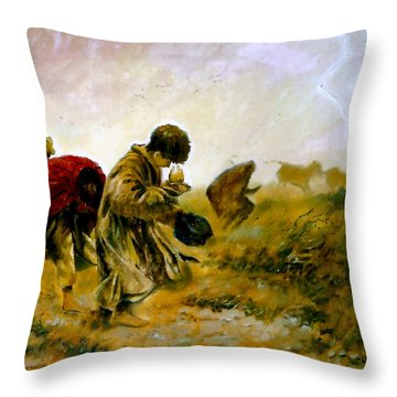 The Storm Throw Pillow by Henryk Gorecki