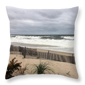 The Storm Nears Throw Pillow