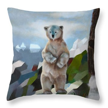 The Story Of The White Bear Throw Pillow by Jukka Nopsanen