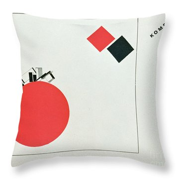 The Story Of Two Squares Throw Pillow by El Lissitzky