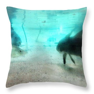 The Storyteller - A Fish Tale By Sharon Cummings Throw Pillow by Sharon Cummings