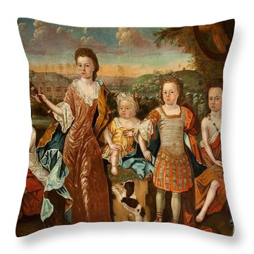 The Strachey Family, C.1710 Throw Pillow by English School