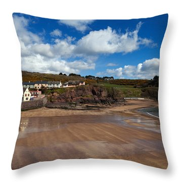The Strand Inn And Dunmore Strand Throw Pillow