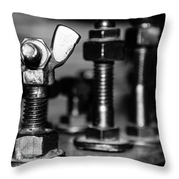 The Strategic Wing Nut Throw Pillow