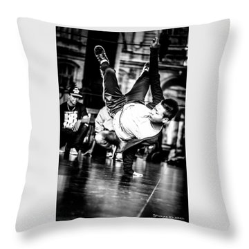 Throw Pillow featuring the photograph The Street Dancer by Stwayne Keubrick