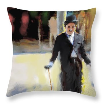 The Street Entertainer Throw Pillow