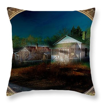 The Street On The River Throw Pillow