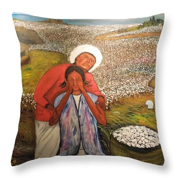 The Strength Of Grandma Throw Pillow