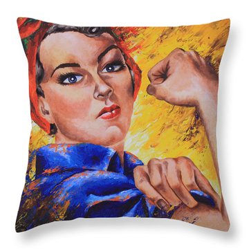 The Strength Within Throw Pillow by Connie Mobley Medina