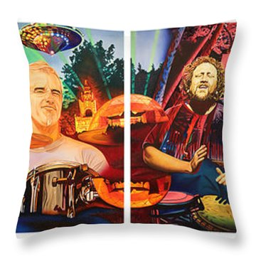The String Cheese Incident At Horning's Hideout Throw Pillow by Joshua Morton