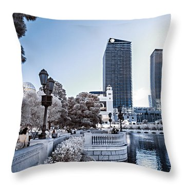 The Strip In Infrared Throw Pillow