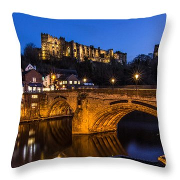 The Stunning City Of Durham In Northern England Throw Pillow