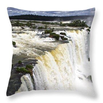 The Stunning Falls Of Iguacu Brazil Side Throw Pillow
