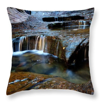 The Subway Pools Of Wonder Throw Pillow by Bob Christopher