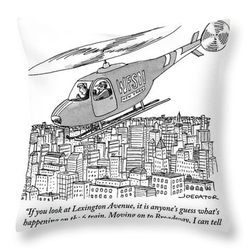 The Subway Traffic Copter Report Features Throw Pillow