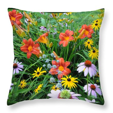 The Summer Garden Throw Pillow by Geraldine Alexander