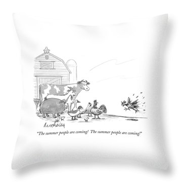 The Summer People Are Coming!  The Summer People Throw Pillow