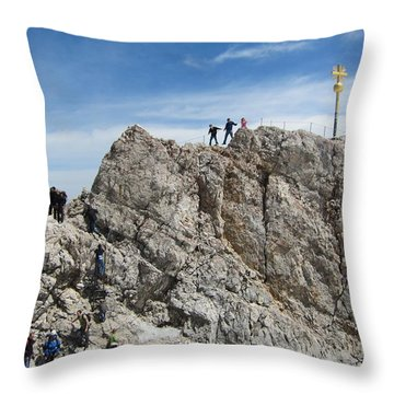 Throw Pillow featuring the photograph The  Summit - 1 by Pema Hou