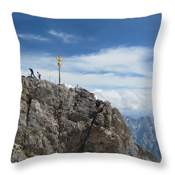 Throw Pillow featuring the photograph The Summit by Pema Hou