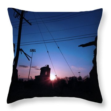 The Sun Also Rises On Ruins Throw Pillow