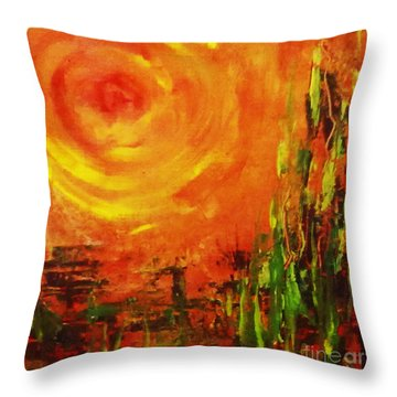 The Sun At The End Of The World Throw Pillow