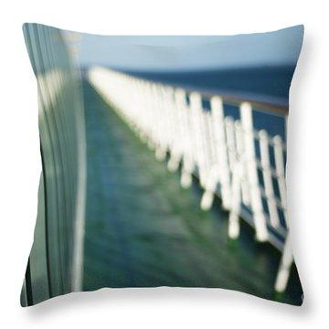 The Sun Deck Throw Pillow by Anne Gilbert