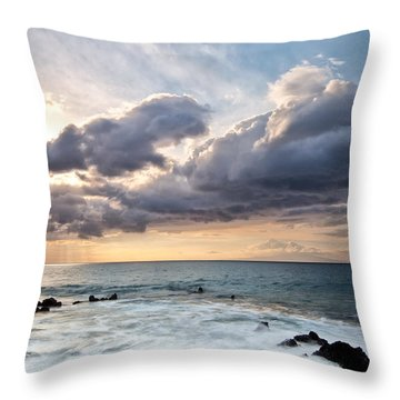 The Sun Looking Down Throw Pillow by Jon Glaser