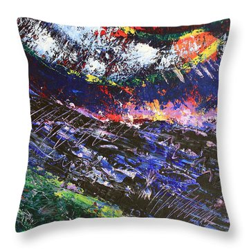 The Sun Moon And Earth Throw Pillow