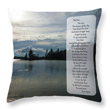 Throw Pillow featuring the photograph The Sun by Ron Haist