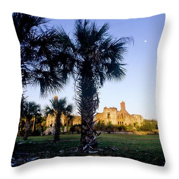 The Sun Sets On The Ruins Of Dungeness Throw Pillow