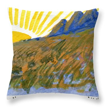 The Sun Shines For All Throw Pillow