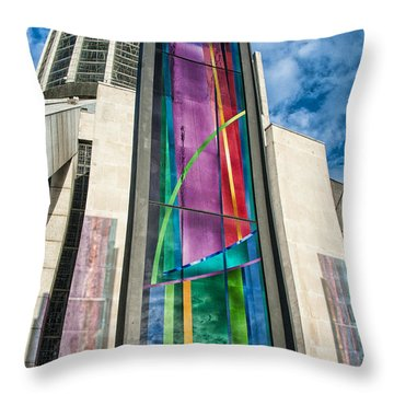 Throw Pillow featuring the photograph The Sun Shines On The Righteous by Brian Tarr