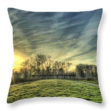 The Sun Shines Through Throw Pillow