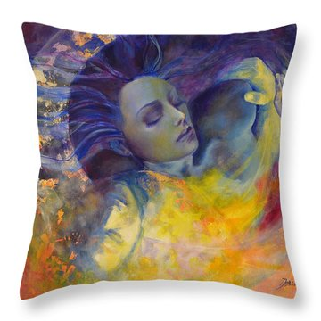 The Sun The Moon And The Truth Throw Pillow by Dorina  Costras