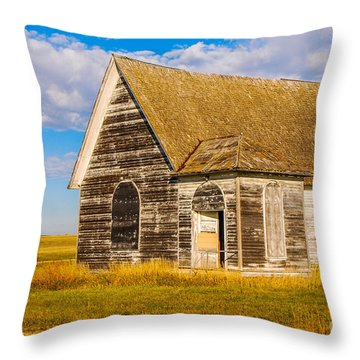 The Sunbeam Church Throw Pillow