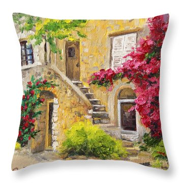 Throw Pillow featuring the painting The Sunny Side by Jennifer Beaudet